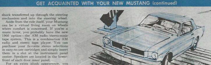 1966 mustang owners manual