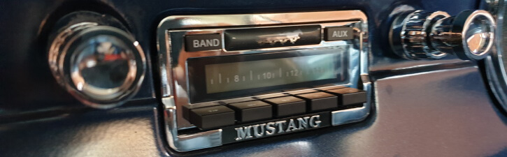 1966 Mustang radio replacement